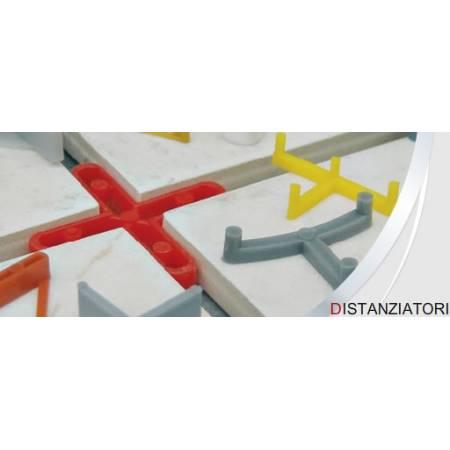 2 mm Abstandshalter an das Kreuz