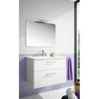 Composizione mobile lavabo con specchio e lampada