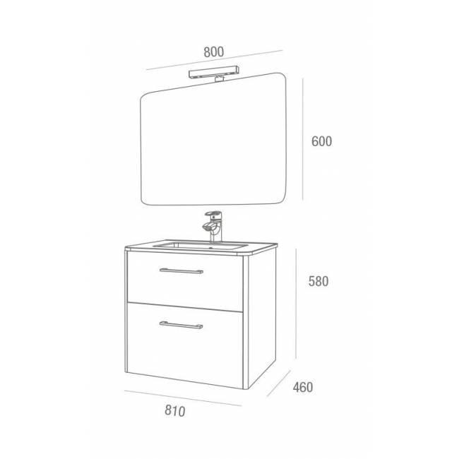 Illuminazione Specchio Bagno Ikea: Specchiera da bagno rettangolare plam illu...