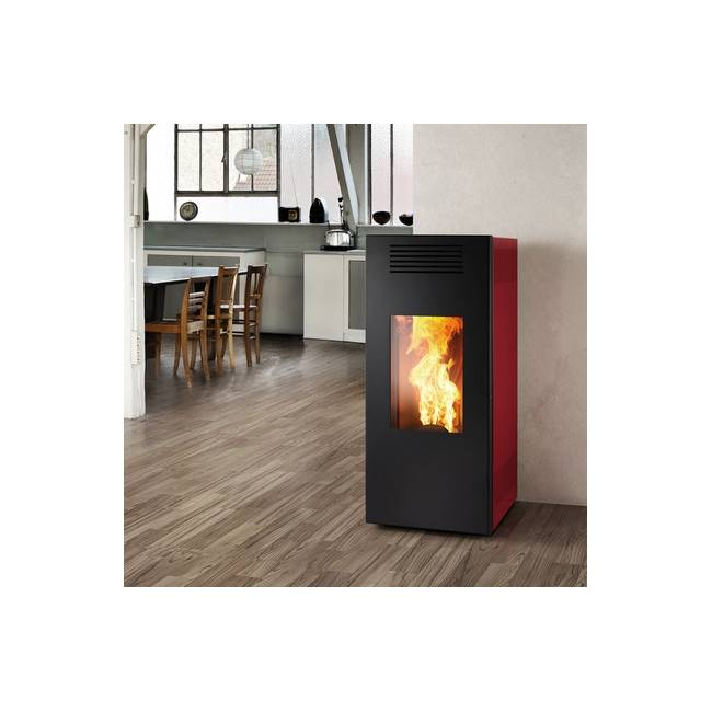 stufa a pellet noir lp 9 montegrappa ad aria calda ventilata. Black Bedroom Furniture Sets. Home Design Ideas