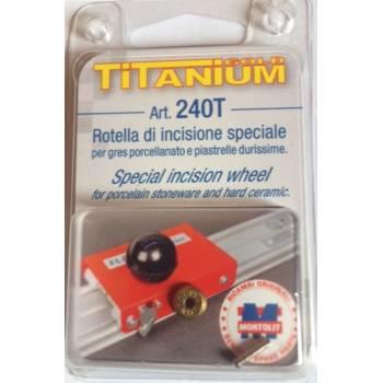 Rotella di incisione 240T al titanio per Flash Line Montolit