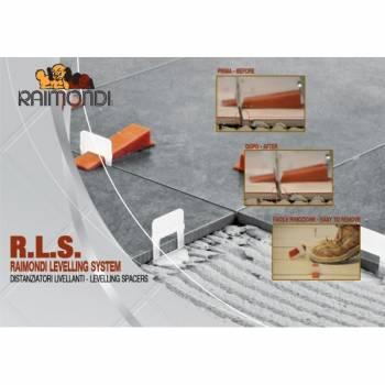 Sistema de nivelación ceramica Raimondi: BASES + CUÑAS