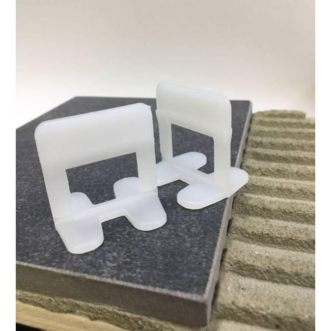 clips 1 5 mm tile leveling spacers block level evo. Black Bedroom Furniture Sets. Home Design Ideas