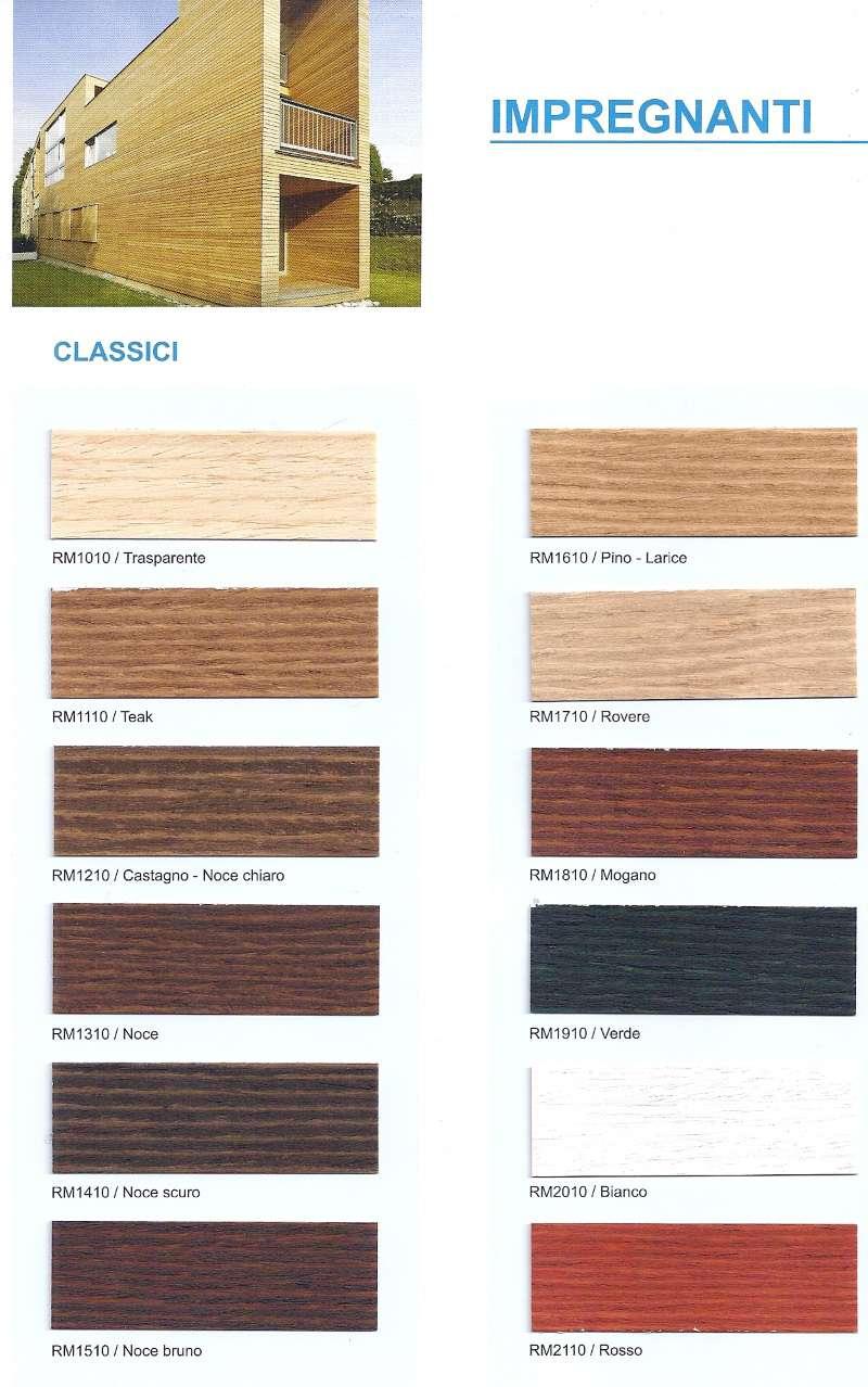 Cartella colori impregnanti all'acqua per legno Rio Verde Renner